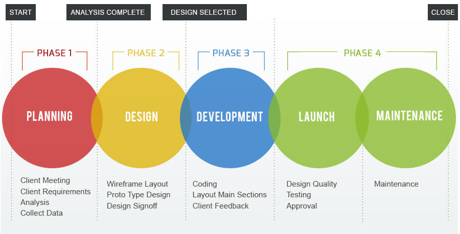 Website design development process explained for Design and development consultants