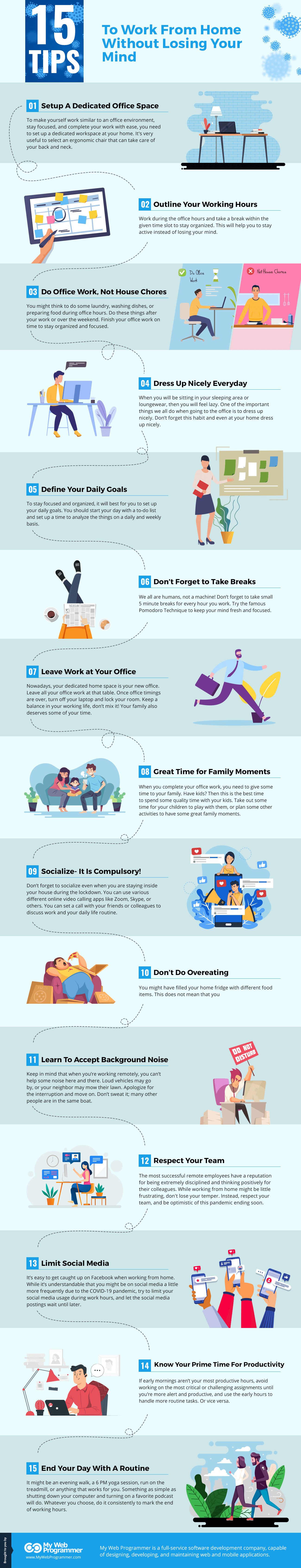 15 Tips To Work From Home Infographic