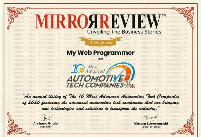 My Web Programmer Certificate